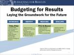 budgeting for results laying the groundwork for the future