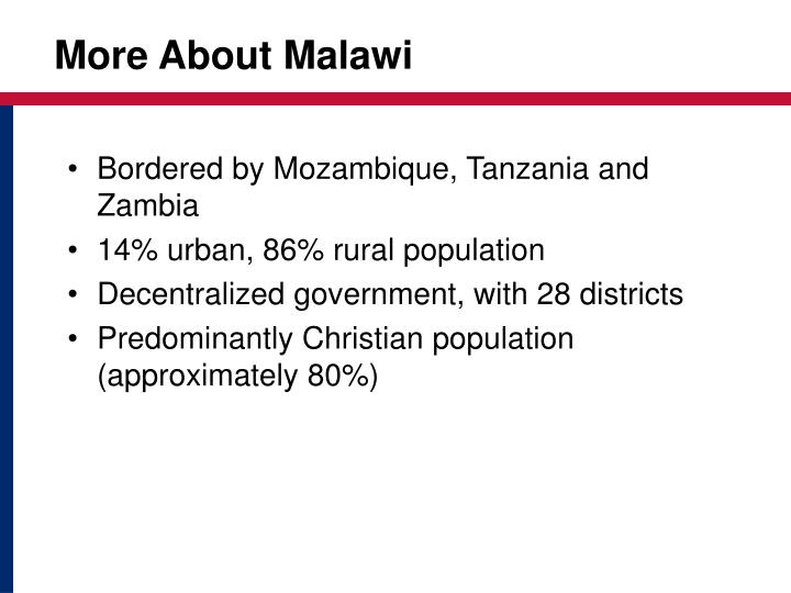 More About Malawi