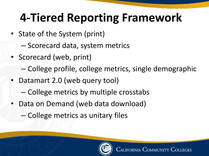 4-Tiered Reporting Framework