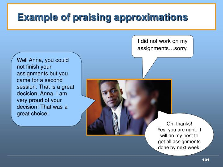 Example of praising approximations