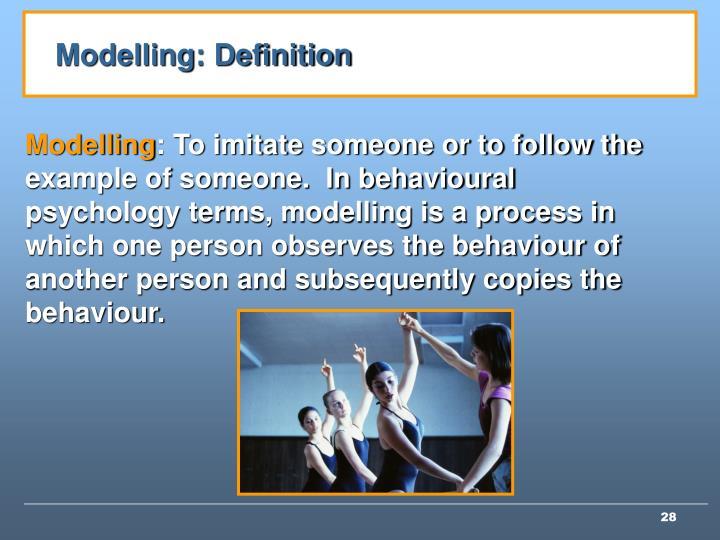Modelling: Definition