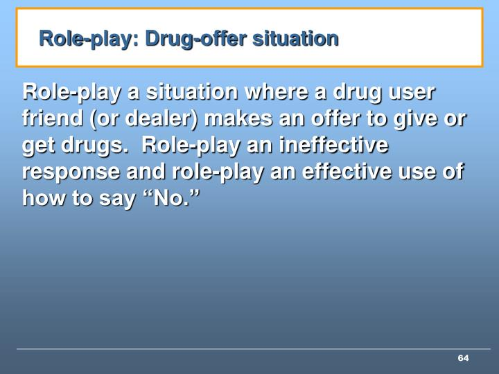 Role-play: Drug-offer situation
