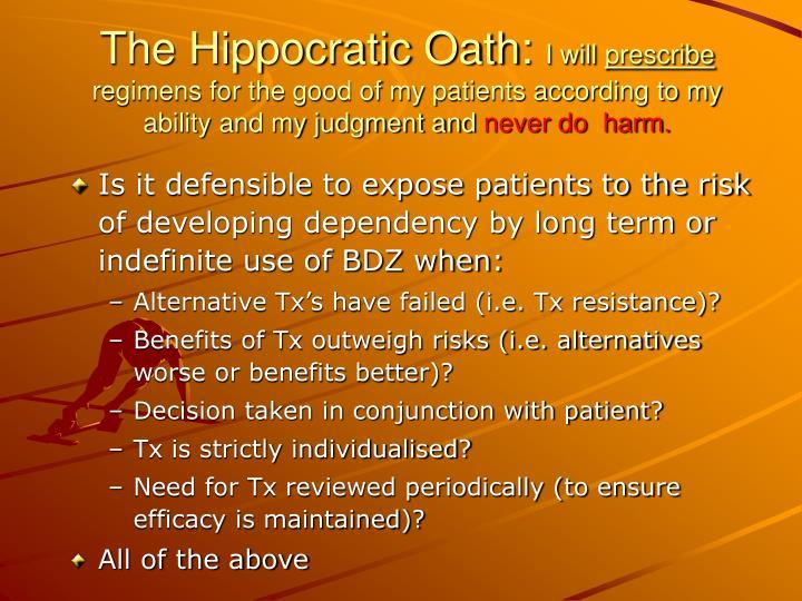The Hippocratic Oath: