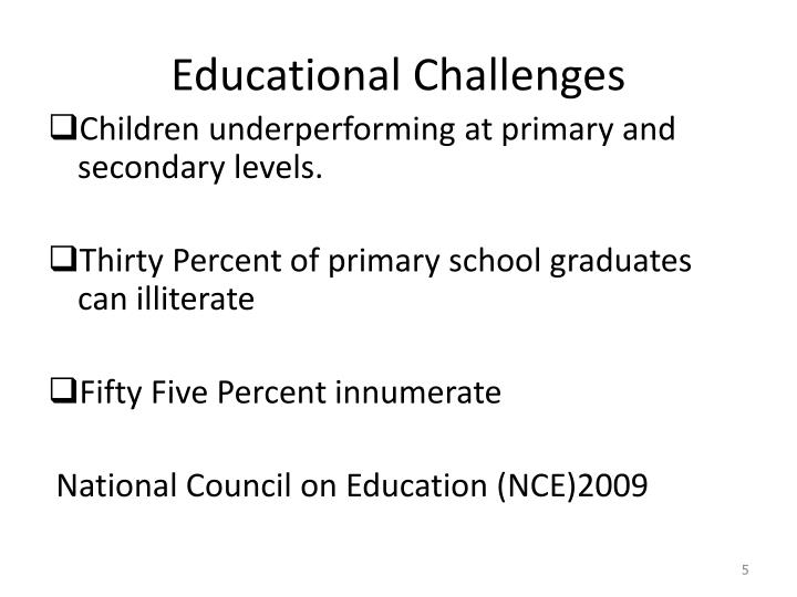 Educational Challenges