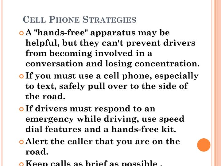 Cell Phone Strategies
