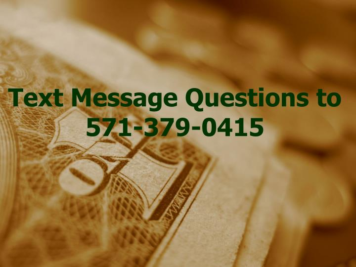 Text Message Questions to