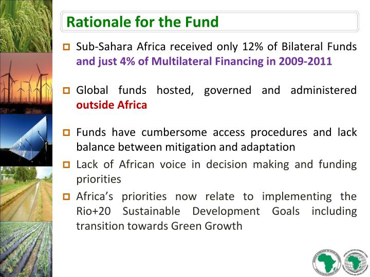 Rationale for the Fund