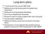 long term plans