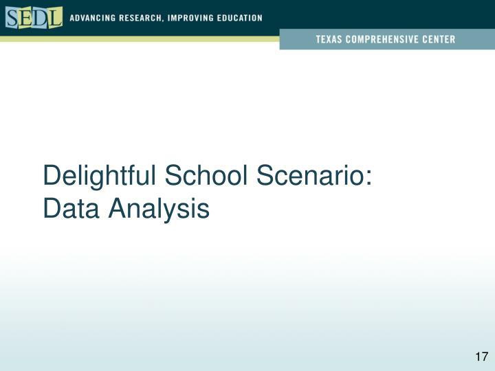 Delightful School Scenario: Data Analysis