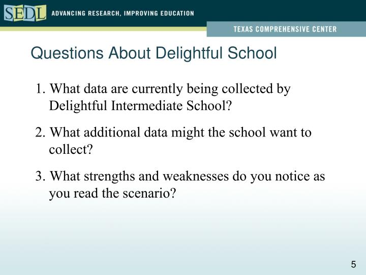 Questions About Delightful School