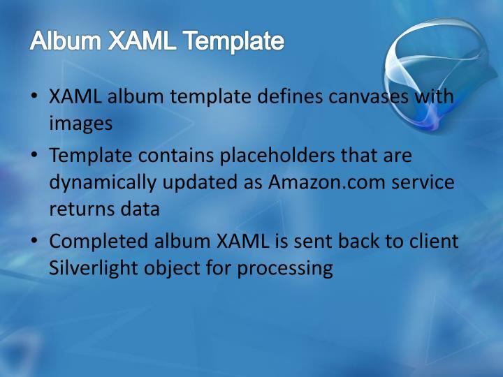 Album XAML Template