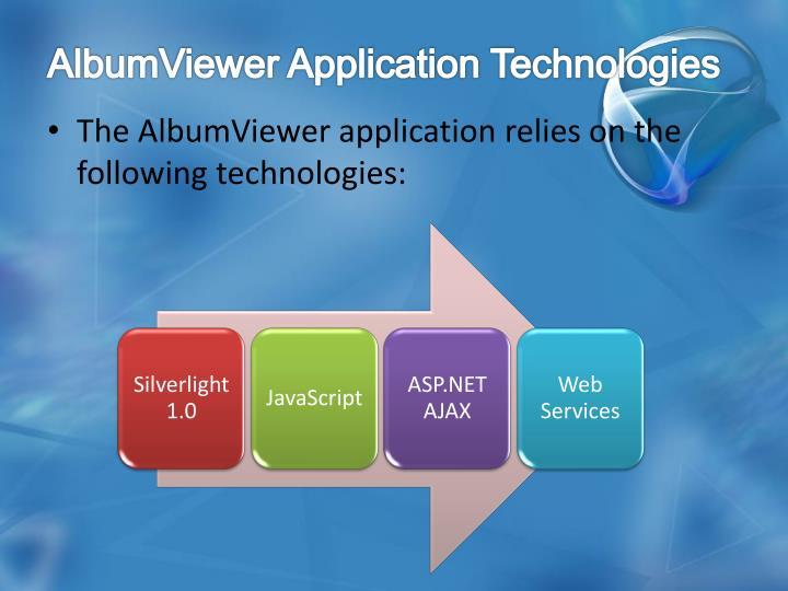 AlbumViewer Application Technologies