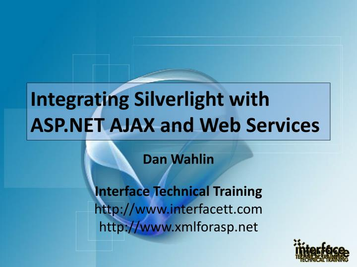Integrating silverlight with asp net ajax and web services