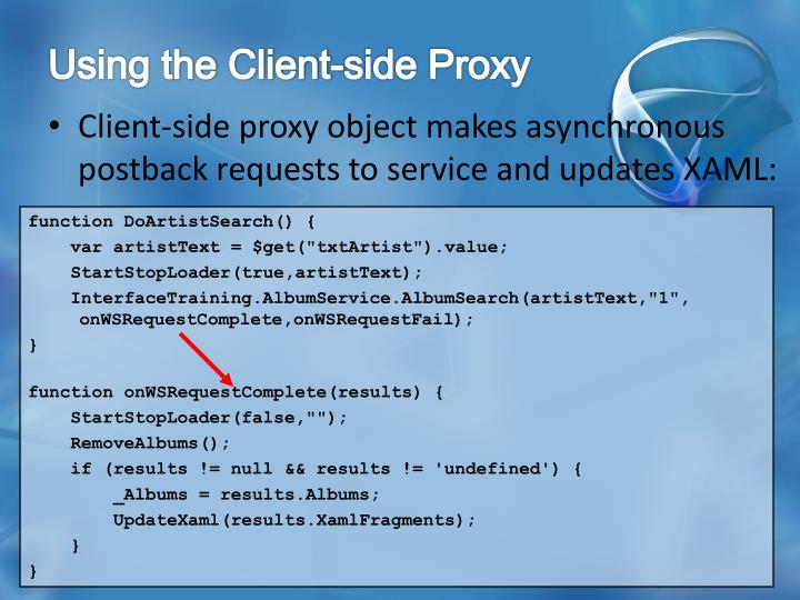 Using the Client-side Proxy