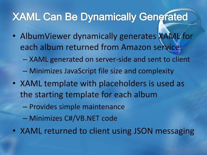 XAML Can Be Dynamically Generated