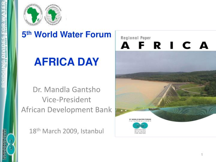 5 th world water forum africa day