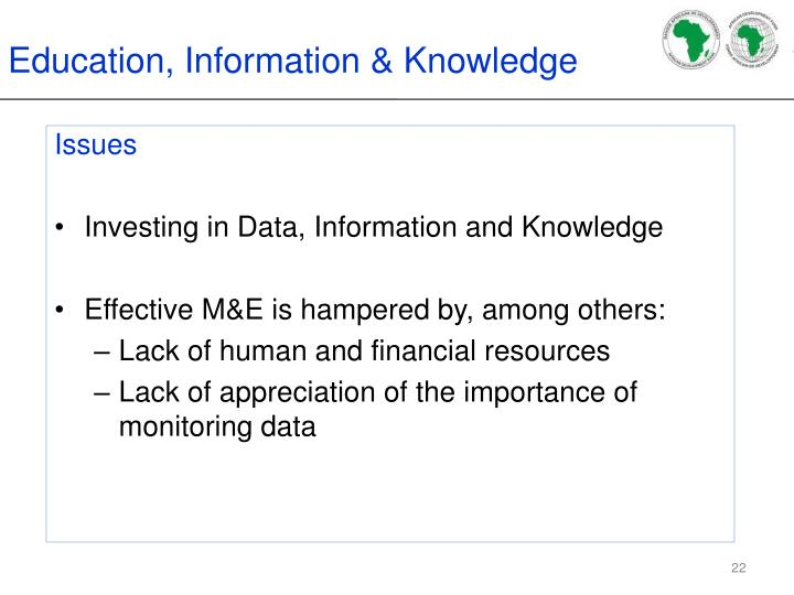 Education, Information & Knowledge
