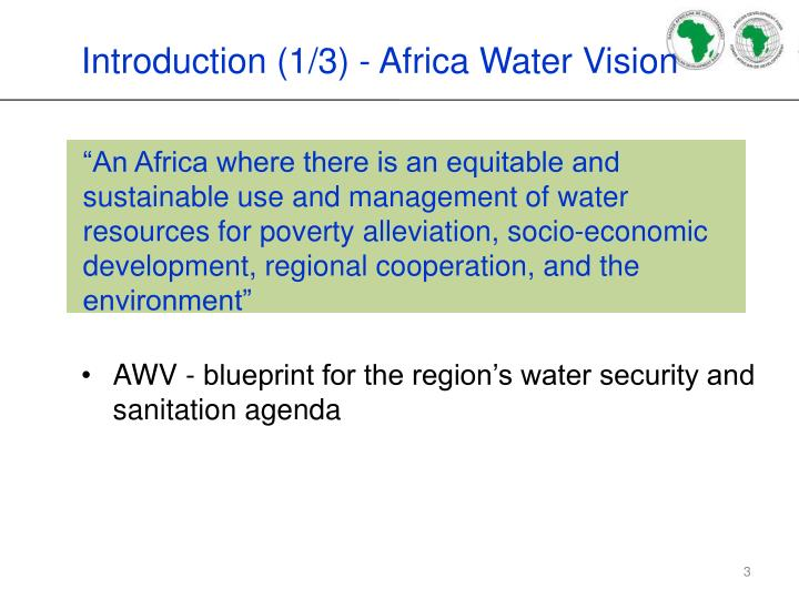 Introduction 1 3 africa water vision