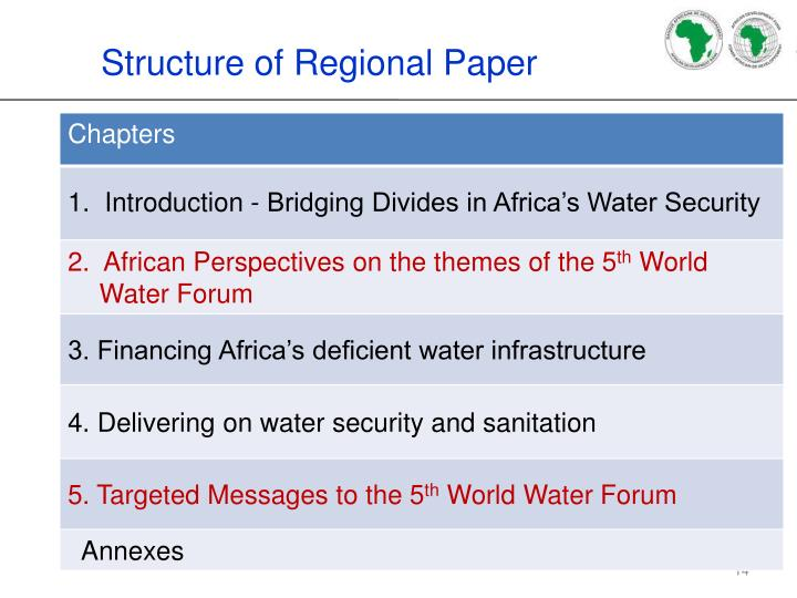 Structure of Regional Paper