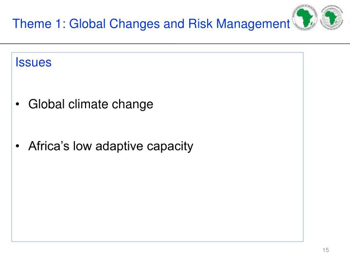 Theme 1: Global Changes and Risk Management