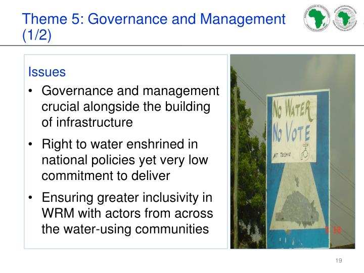 Theme 5: Governance and Management (1/2)