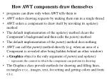 how awt components draw themselves