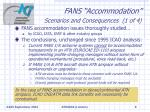 fans accommodation scenarios and consequences 1 of 4