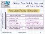 ground data link architecture atn design tradeoffs