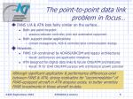 the point to point data link problem in focus