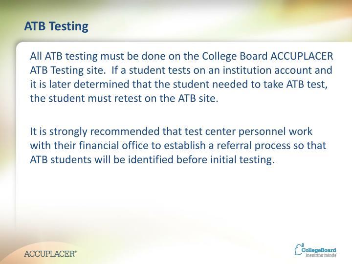 ATB Testing