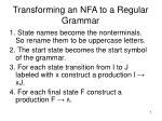 transforming an nfa to a regular grammar
