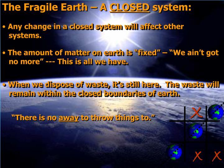 The Fragile Earth – A