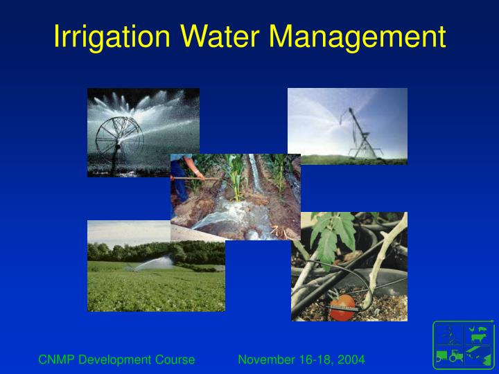 irrigation water management n.