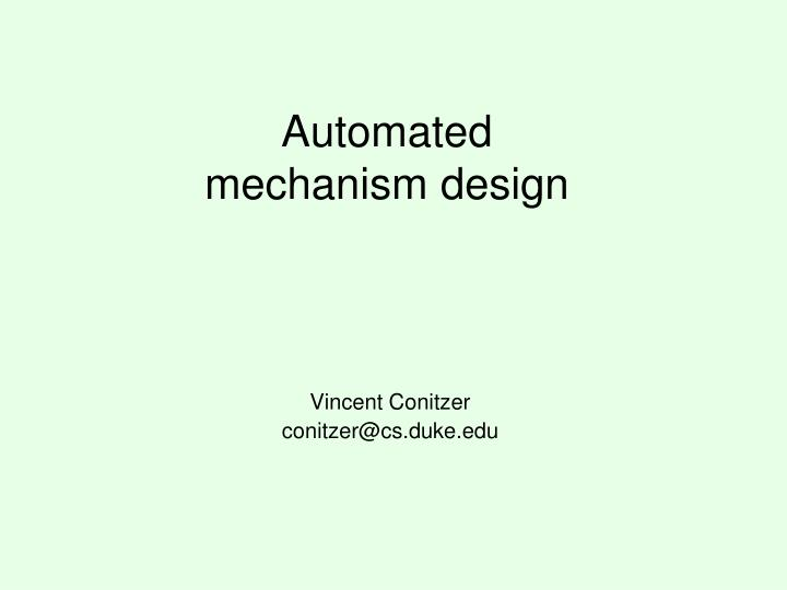 automated mechanism design n.