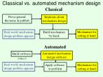 classical vs automated mechanism design