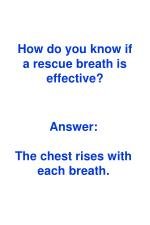 how do you know if a rescue breath is effective