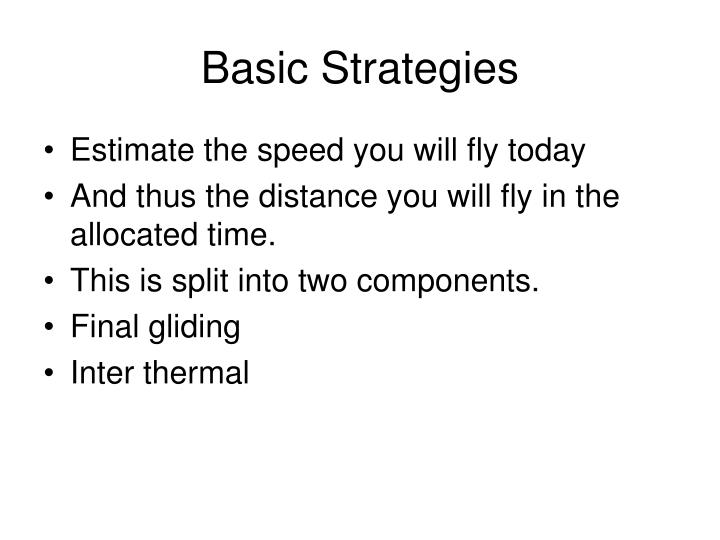 Basic Strategies