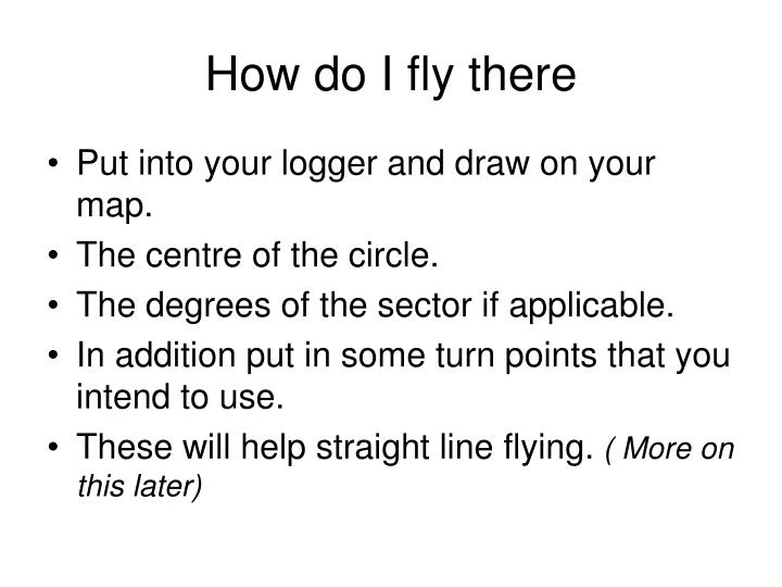 How do I fly there
