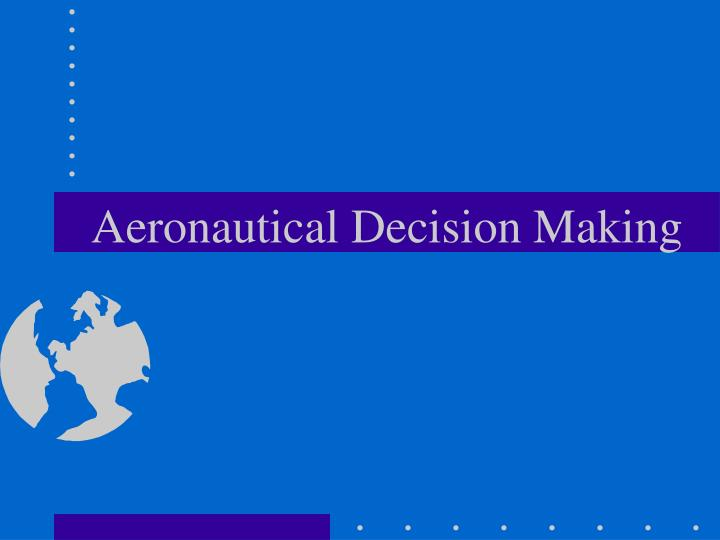 aeronautical decision making n.