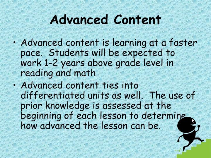 Advanced Content
