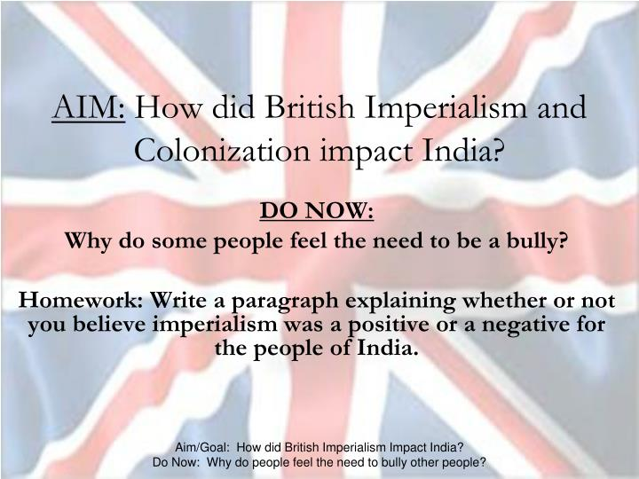 british impact on india Ch 5 impact of british rule on india 1 impact of british rule on india 2 • 1 the british traders came to india for trading purpose.