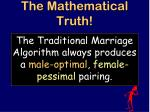 the mathematical truth