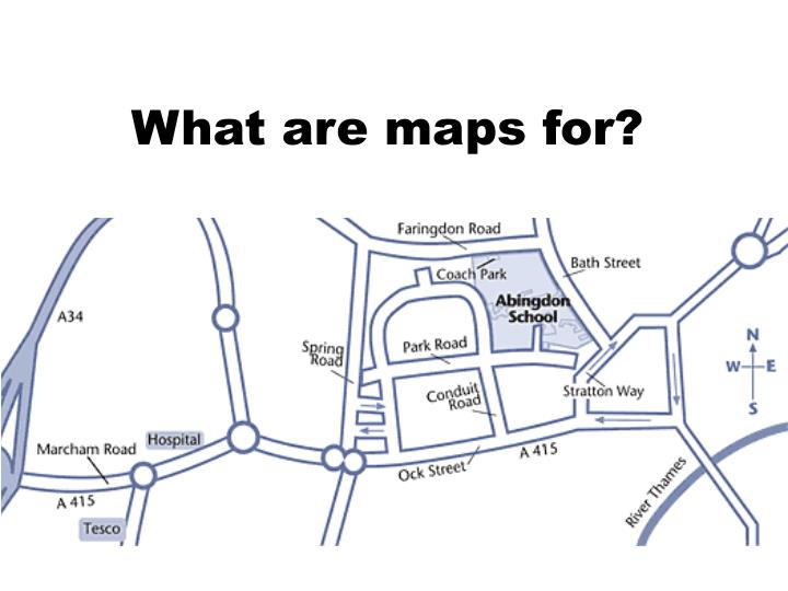 What are maps for