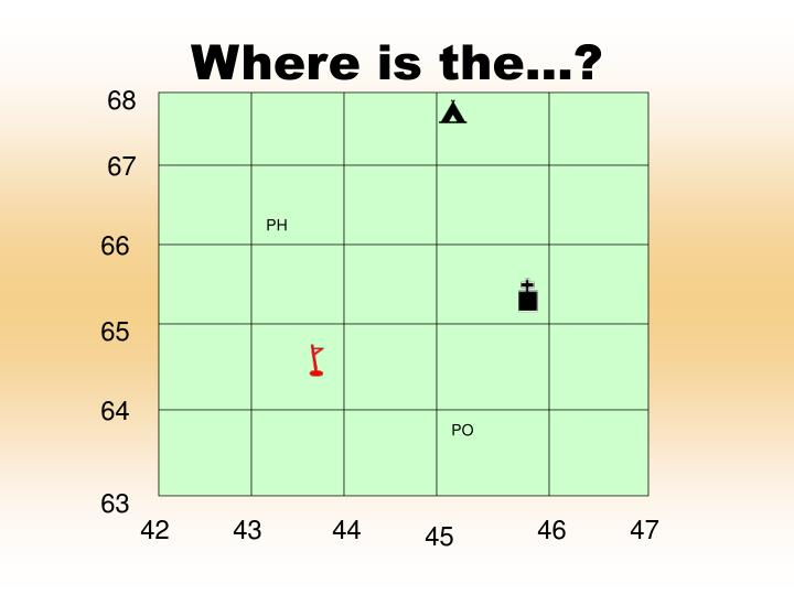 Where is the…?