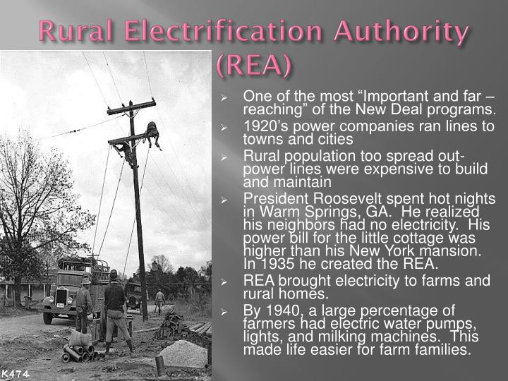 Rural Electrification Authority (REA)