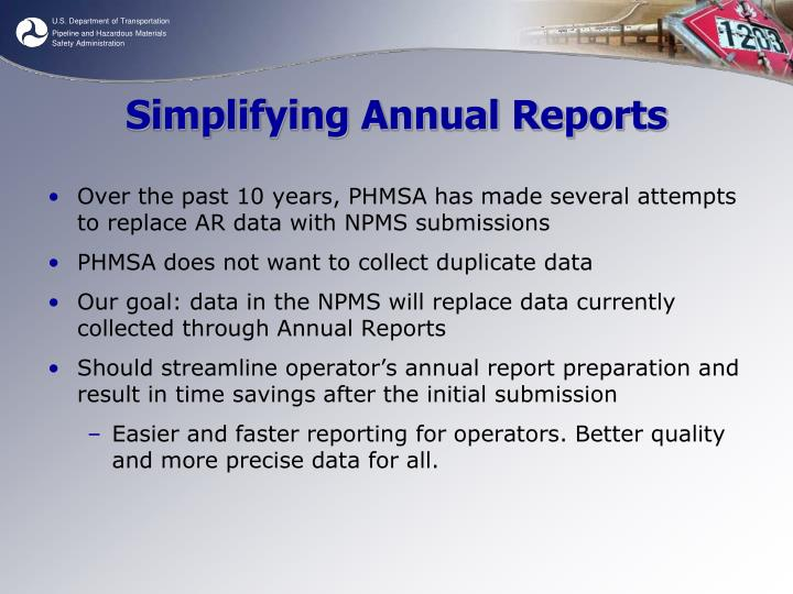 Simplifying Annual Reports