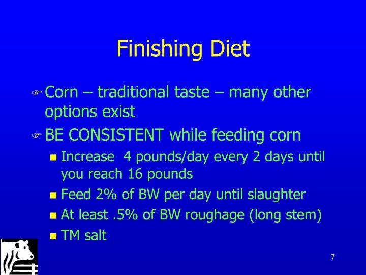 Finishing Diet