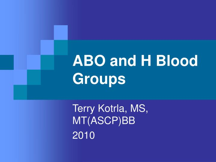 abo and h blood groups n.