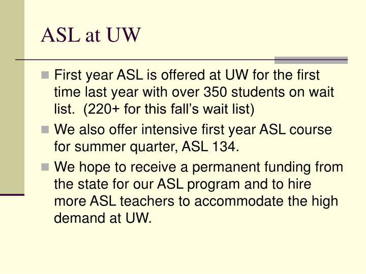 ASL at UW