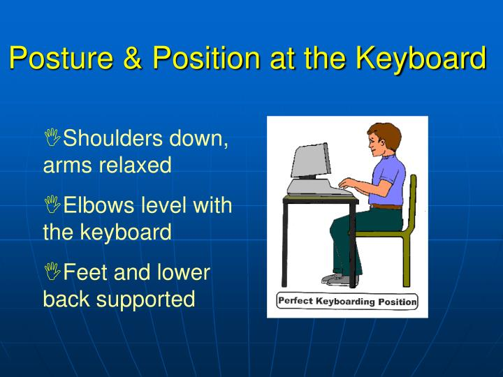 Posture position at the keyboard1